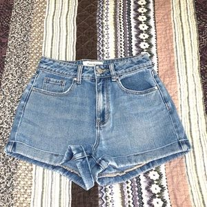 PacSun denim mom short